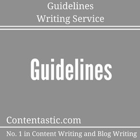 Guidelines Writing Service