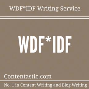 WDF-IDF Writing Service