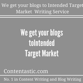 We get your blogs to Intended Target Market Writing Service