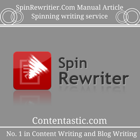 SpinRewritier.Com Manual Article Spinning writing service